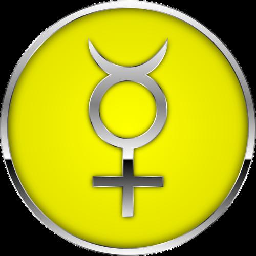 simbolo de mercurio